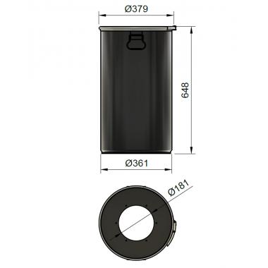 DUST COMMANDER 60LX - 60 liter steel drum for DUST COMMANDER XL
