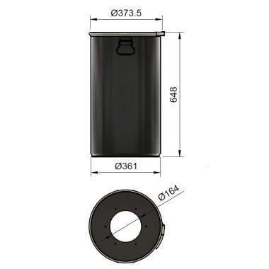 DUST COMMANDER 60LX - Fût acier 60 litres pour DUST COMMANDER XL