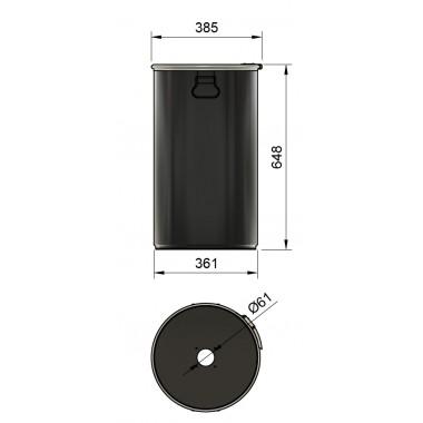 DUST COMMANDER 60Lclc - 60 liter steel drum for DUST COMMANDER CLC